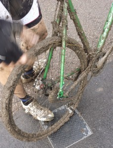 Broken rear mech at the Summer Series